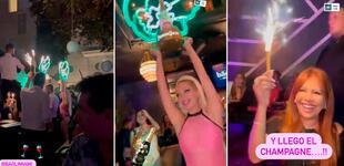 Magaly Medina y Alfredo Zambrano disfrutan de fiesta en exclusivo club de Miami [VIDEO]
