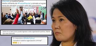"""Keiko Fujimori pide que se unan a Fuerza Popular para rescatar al país del """"comunismo"""", pero la trolean"""