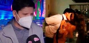 """Gian Piero Díaz sobre beso de Patricio y Luciana: """"No fue escena, fue cámara escondida"""" [VIDEO]"""