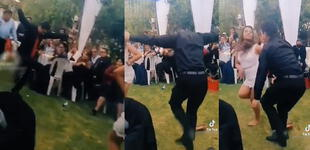 Jóvenes 'empilan' a usuarios con su impresionante baile de huaylarsh en boda y es viral [VIDEO]