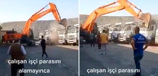 Trabajador destruyó los camiones de su jefe porque no le pagó el sueldo [VIDEO]