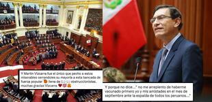 """Martín Vizcarra: usuarios reaccionan tras afirmar que no se """"arrepiente"""" de haber cerrado el Congreso"""