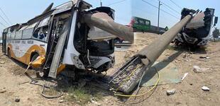 El Agustino: Ocho personas heridas dejó el choque de bus contra un poste de alta tensión [VIDEO]