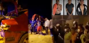 Pachacámac: ciudadanos golpearon a delincuentes y destruyeron auto con el que robaban [VIDEO]
