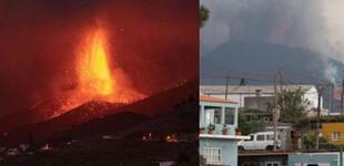 "España: impactantes fotos en ""fase explosiva"" del volcán que dejó a cientos de familias sin hogar"