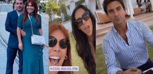 Magaly Medina contenta por su reencuentro con Antonio Pavón en España [VIDEO]