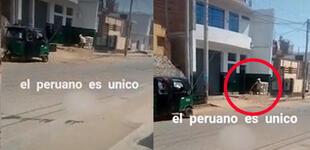 Ingenio peruano: obreros utilizan mototaxi para cargar arena al tercer piso de una vivienda [VIDEO]