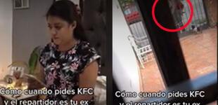 Pide comida por delivery y cuando llega su pedido se da cuenta que el repartidor es su expareja [VIDEO]
