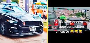 Policía 'detiene' a patrulla de Transformers en Cusco y es troleado por usuarios [VIDEO]