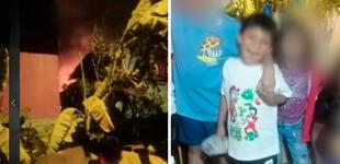 SJL: menor de seis años murió tras incendiarse casa que era usada como depósito de reciclaje