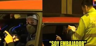 """Hugo García es detenido por la policía y aseguró ser """"embajador"""" para evitar detención [VIDEO]"""