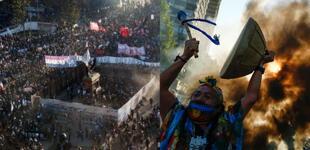 Violencia en Chile: dos muertos y 450 detenidos deja masiva marcha por los dos años del estallido social