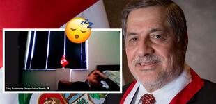 Congresista Ernesto Bustamante es captado durmiendo en plena sesión del Congreso [VIDEO]
