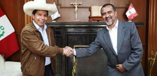 Íber Maraví se reunió con Pedro Castillo en Palacio de Gobierno