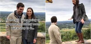 Madre 'impide' a su hijo pedir matrimonio a su novia y su acción se vuelve viral [VIDEO]