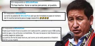 """Guido Bellido: usuarios lo trolean después de afirmar que """"quien hace llorar al pueblo, siempre paga"""""""
