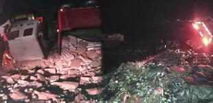 Arequipa: Tráiler con latas de leche se volcó y pobladores lo saquean [VIDEO]
