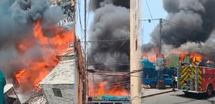 Cercado: voraz incendio se registra en una ferretería de Barrios Altos [VIDEO]