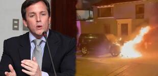 Francis Allison: Sujetos prenden fuego a camioneta del exalcalde de Magdalena [VIDEO]