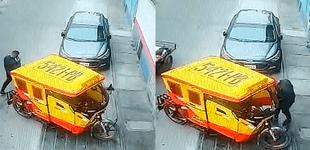 SMP: en plena luz del día roban mototaxi estacionada afuera de una vivienda [VIDEO]
