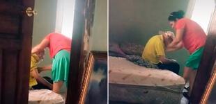 Mujer cuida a su exsuegro pese al abandono de su esposo y se gana la admiración de miles [VIDEO]