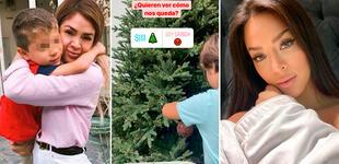 Sheyla se adelanta a la Navidad y arma árbol con su hijo Antoñito en su mansión en México