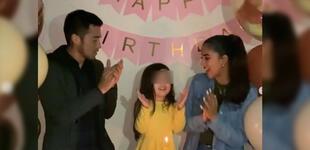 """Melissa Paredes y Gato Cuba le cantan juntos a su hija '¡Feliz cumpleaños!': """"Princesa de mi vida"""" [VIDEO]"""