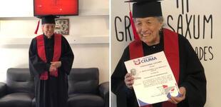 A los 93 años mujer se gradúa como licenciada de administración y con las mejores notas [FOTOS]