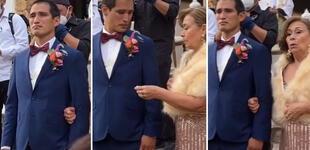 No contuvo la emoción: Novio ve a su futura esposa ingresar a la iglesia y tiene inesperada reacción [VIDEO]