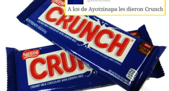 Este tuit de chocolates 'Crunch' generó una ola de indignación.
