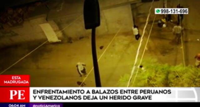 Venezolano herido de bala en pelea en San Martín de Porres