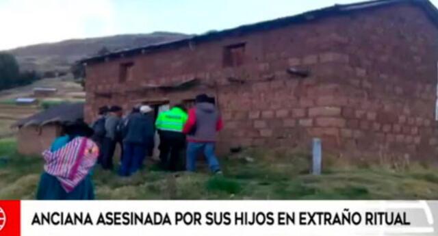 Anciana asesinada en ritual en Ayacucho