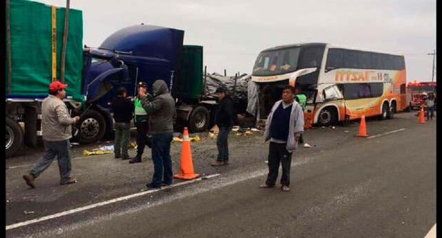 Accidente carretero dejó cuatro muertos en Paramonga