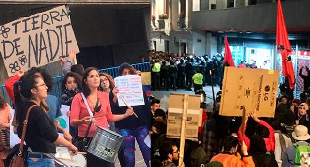 Dos marchas con ideas opuestas sobre la migración de venezolanos fueron convocadas en Ecuador