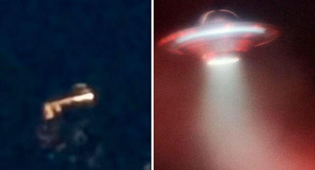 Imagen de un OVNI que sobrevolaba en un lugar del Reino Unido