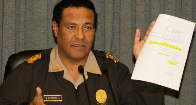 Raúl Becerra fue director de la PNP y hoy está detenido