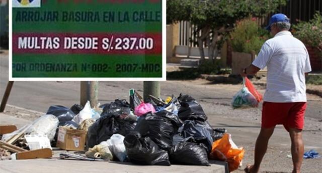 Multas desde 237 soles se aplicarán por botar basura en Piura
