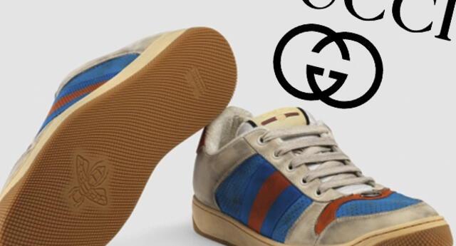 """Gucci saca al mercado """"zapatilla sucia"""" a más de 700 dólares"""