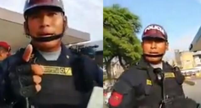 Agresión a periodista por un efectivo PNP fue difundido en Facebook