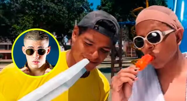 Youtubers peruanos de 'Gangseados' decidieron parodiar la canción de Bad Bunny