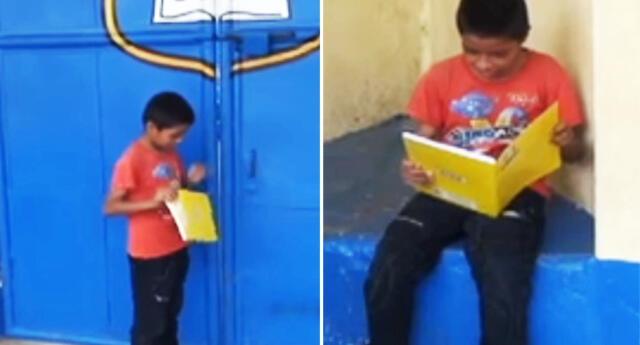 Vía Facebook se reveló la admirable historia del escolar de Tarapoto