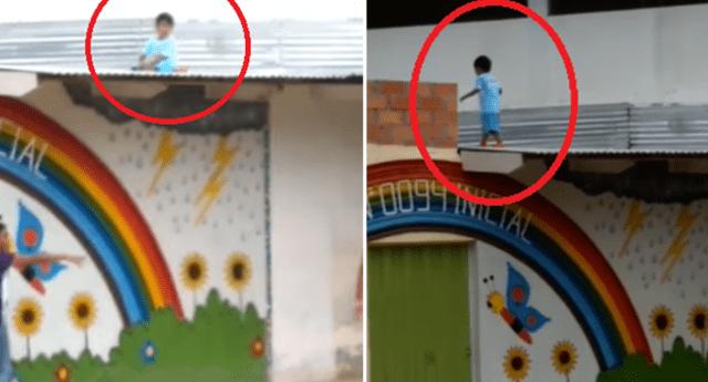 Niños pudo caer desde el techo de su colegio en Tarapoto