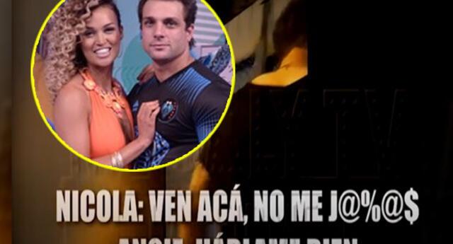 Nicola Porcella agrede verbalmente a Angie Arizaga en plena vía pública
