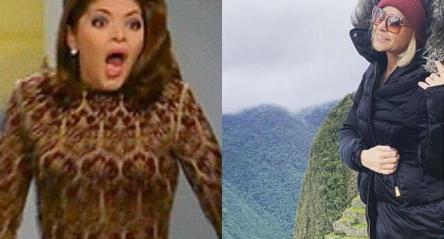 Soraya Montenegro de vacaciones en Machu Picchu