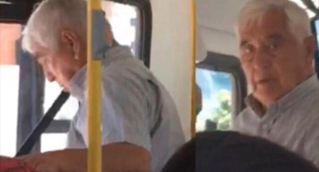 Se pajea en el bus