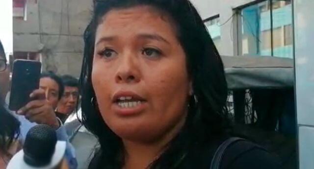 Brigitte Flores, la mujer casi quemada viva en La Victoria, defendió a su agresor a las afueras de la Comisaría