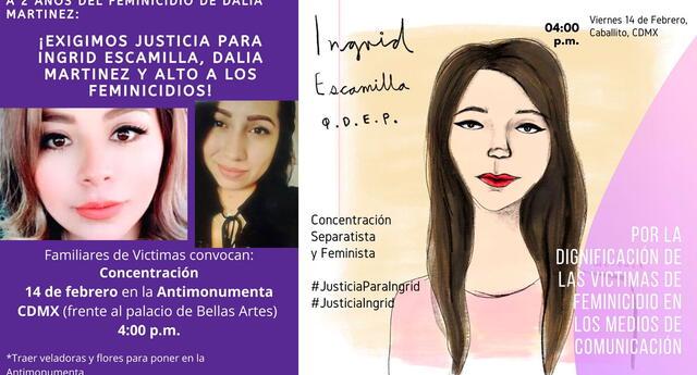 Diversos colectivos feministas alzarán su voz de protesta en honor a Ingrid.
