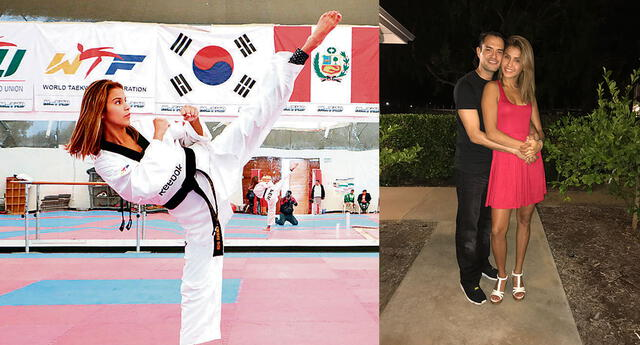 Taekwondista Julissa Diez Canseco tiene como DT a su pareja Peter López.