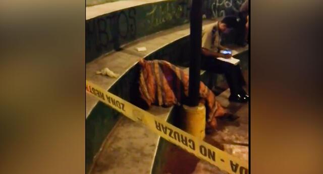 El cadáver de la mujer permaneció 3 horas en la alameda Los Incas