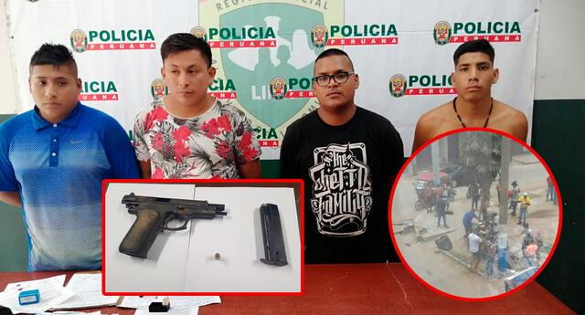Los detenidos serán denunciados por los delitos de tenencia ilegal de armas y peligro común.